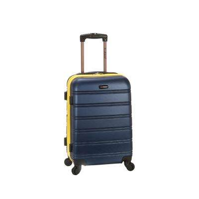 Melbourne 20 in. Expandable Carry on Hardside Spinner Luggage, Navy