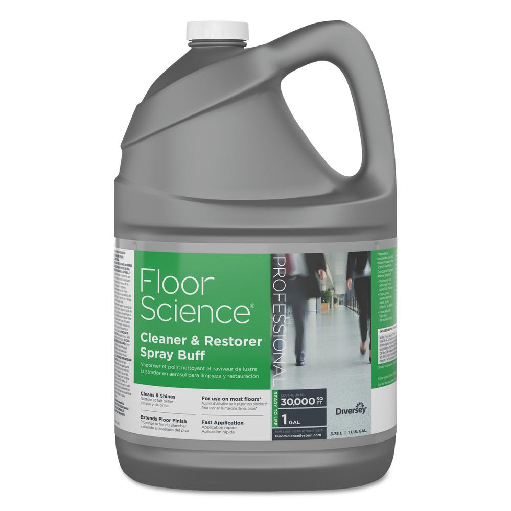 Floor Science 1 Gal. Citrus Cleaner/Restorer Spray Buff Bottle (4 per