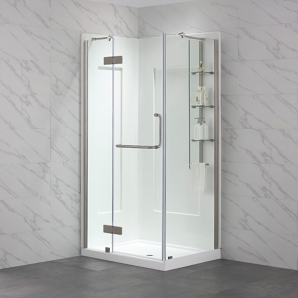 a1abc05fb38 OVE Decors Dalia 32 in. x 40 in. x 79 in. Shower Kit in Satin with ...
