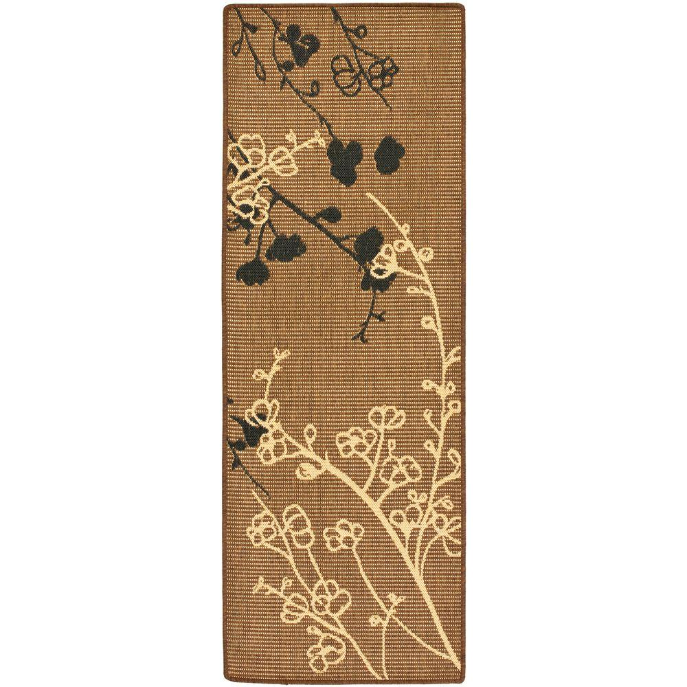 Courtyard Brown Natural/Black 2 ft. 3 in. x 6 ft. 7