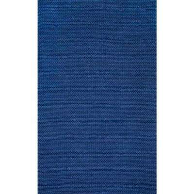 Chunky Woolen Cable Navy 6 ft. x 9 ft. Area Rug