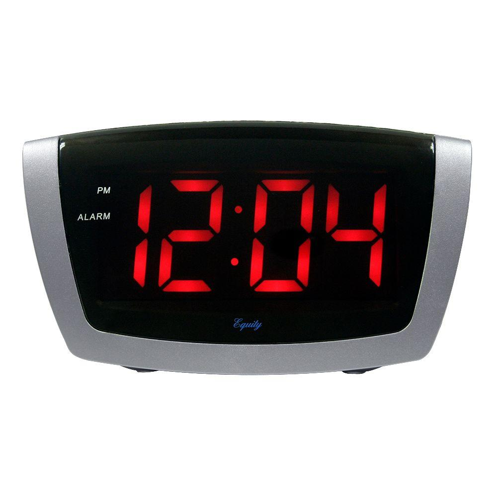 7.25 in. x 3.9 in. Red LED Alarm Clock with HI/LO Dimmer,...