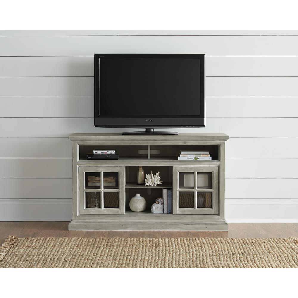Buckhead 54 in. Antique Mint Wood TV Stand Fits TVs Up to 50 in. with Storage Doors