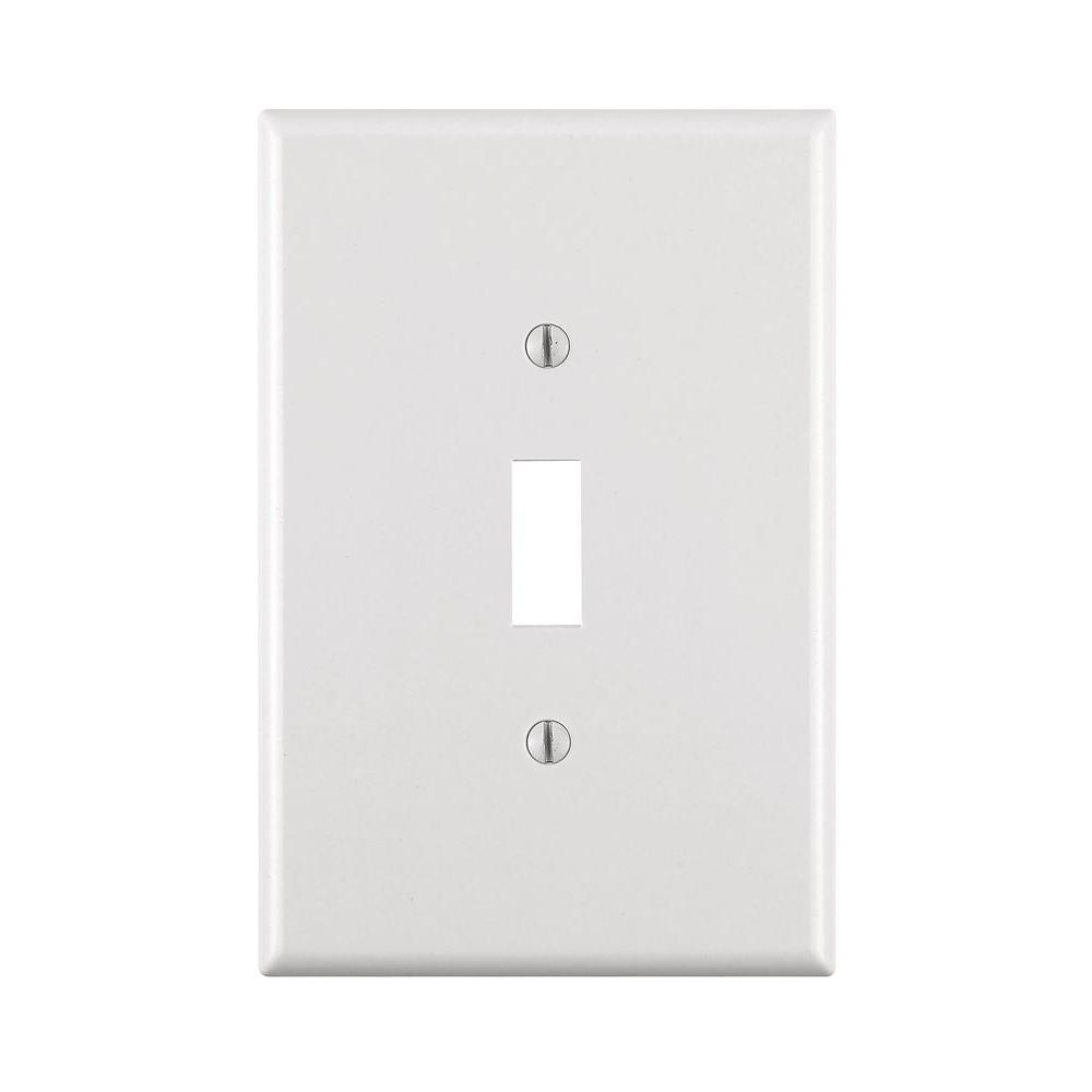 1-Gang Jumbo Toggle Wall Plate, White