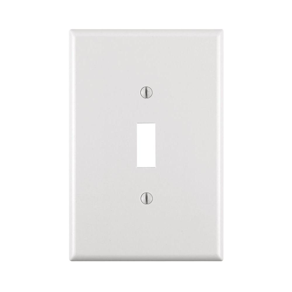 1-Gang Jumbo Toggle Wall Plate, White