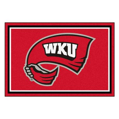 NCAA - Western Kentucky University Red 8 ft. x 5 ft. Indoor Area Rug