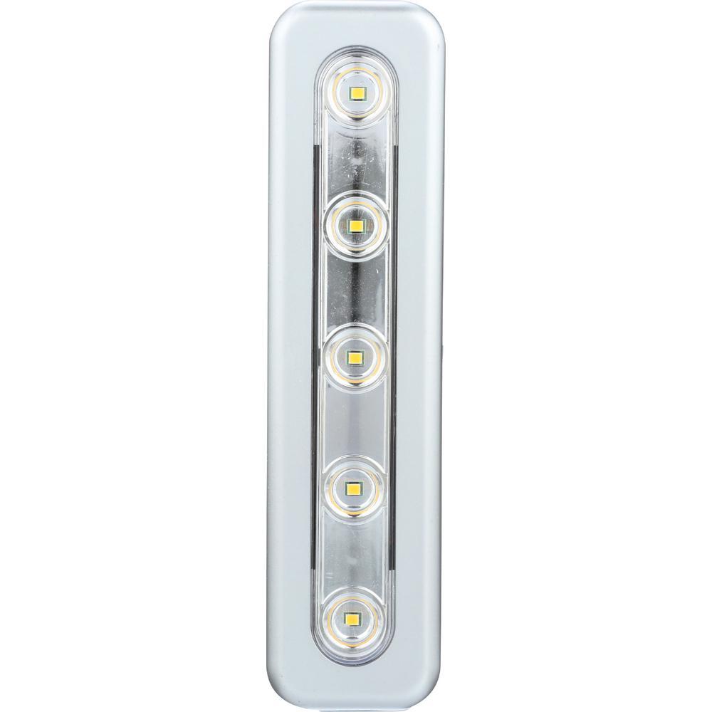 Mini Task LED Silver Under Cabinet Light (2-Pack)