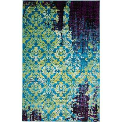 Istanbul Blue 5 ft. x 8 ft. Area Rug