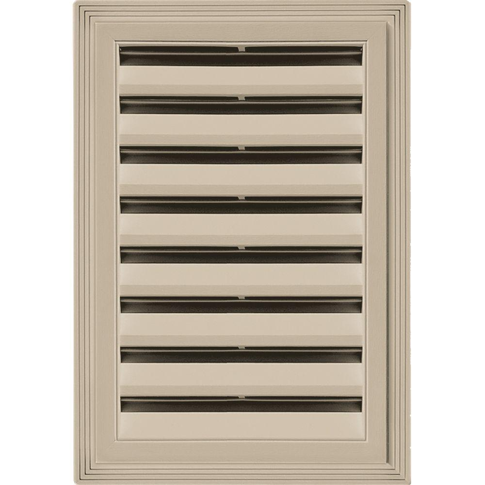 Builders Edge 12 in. x 18 in. Rectangle Gable Vent #085 Clay