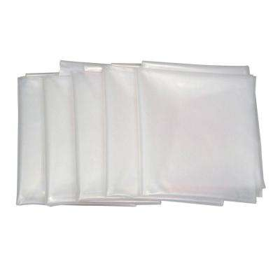20 in. Dia x 43 in. Clear Plastic Dust Collection Bag (5-Pack)