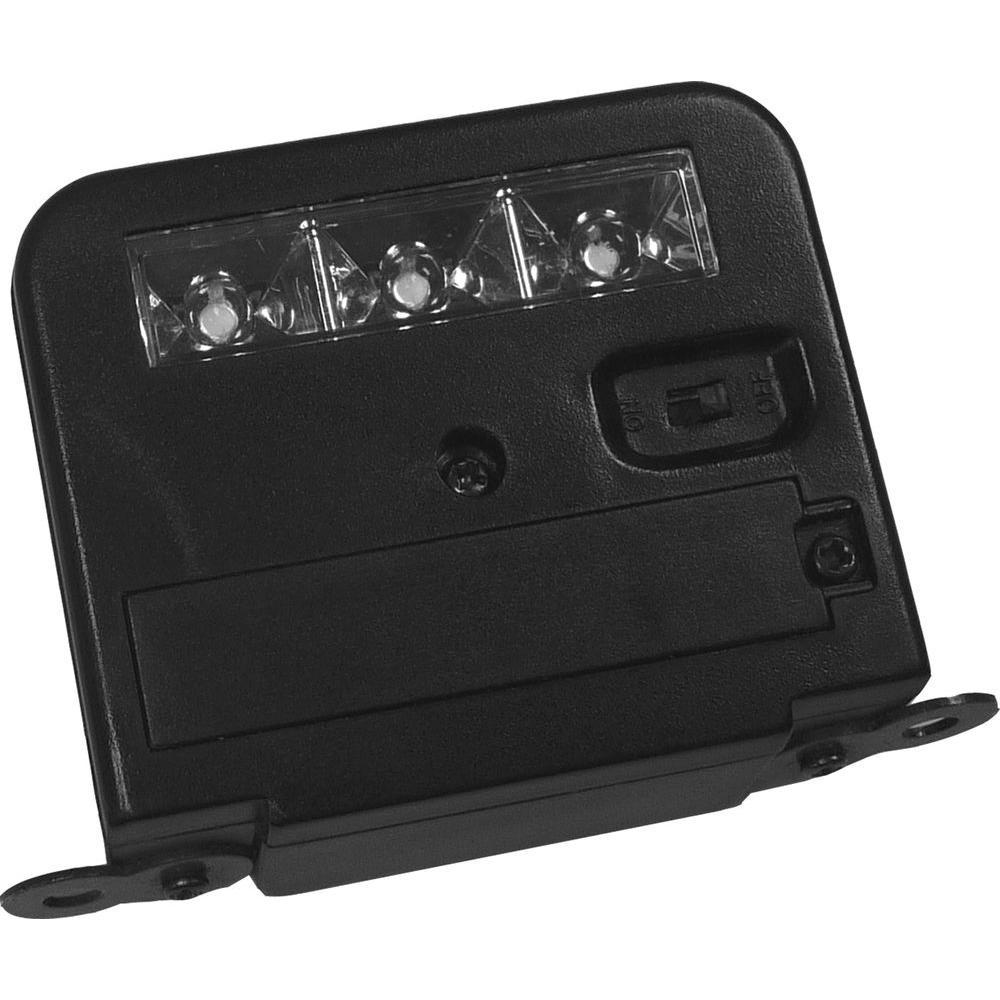 wunder light deck mount outdoor black plastic led solar lights 6pack