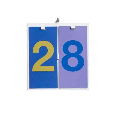 8.4 in. x 9.7 in. Spectrum with Reversible Number Cards Wall Hanging Perpetual Calendar