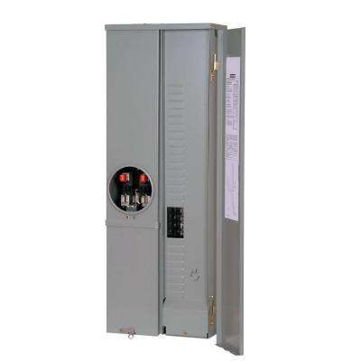 200 Amp 8-Space 16-Circuit Overhead Fed Meter Load Center Combination