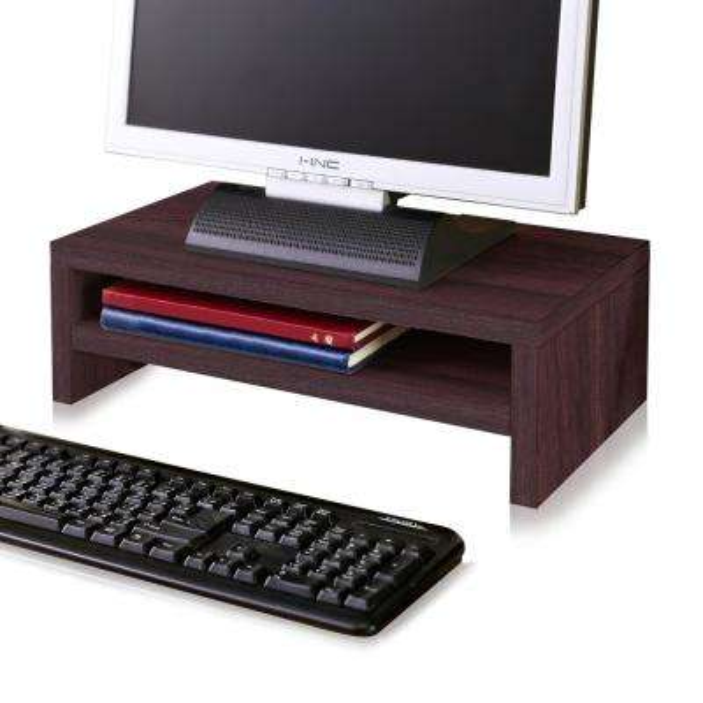 zBoard Eco 2-Shelf Computer Monitor Stand in Espresso