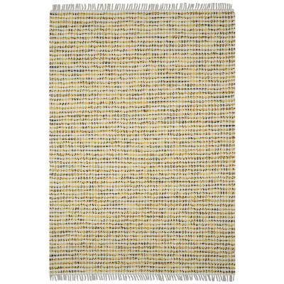 Yellow Dots Cotton 2 ft. 6 in. x 4 ft. 2 in. Accent Rag rug