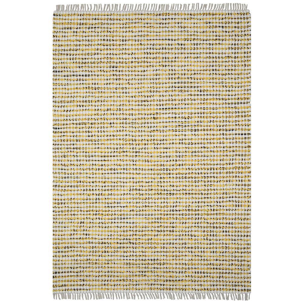 Complex Yellow Dots Cotton 5 ft. x 8 ft