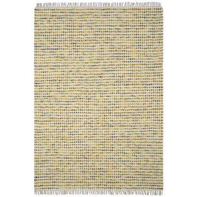 Yellow Dots Cotton 5 ft. x 8 ft. Area Rag Rug