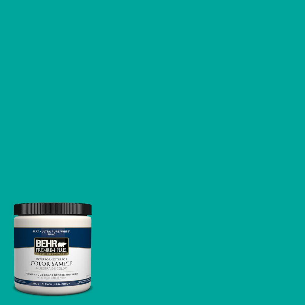 BEHR Premium Plus Home Decorators Collection 8 Oz. Home Decorators  Collection Tropical Sea Flat Int