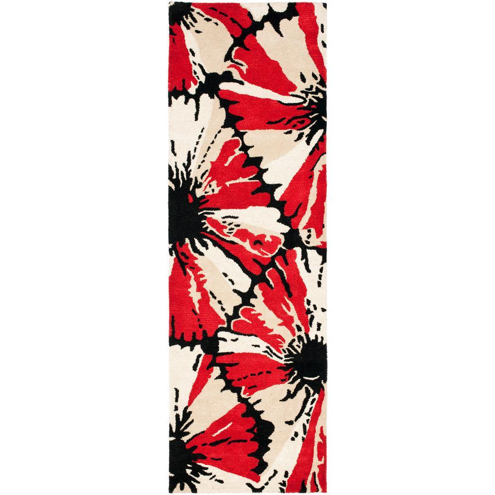 Soho Black/Red 2 ft. 6 in. x 8 ft. Runner