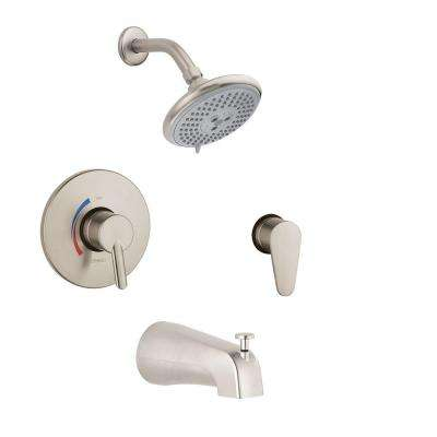 Focus S Shower System Combo in Brushed Nickel