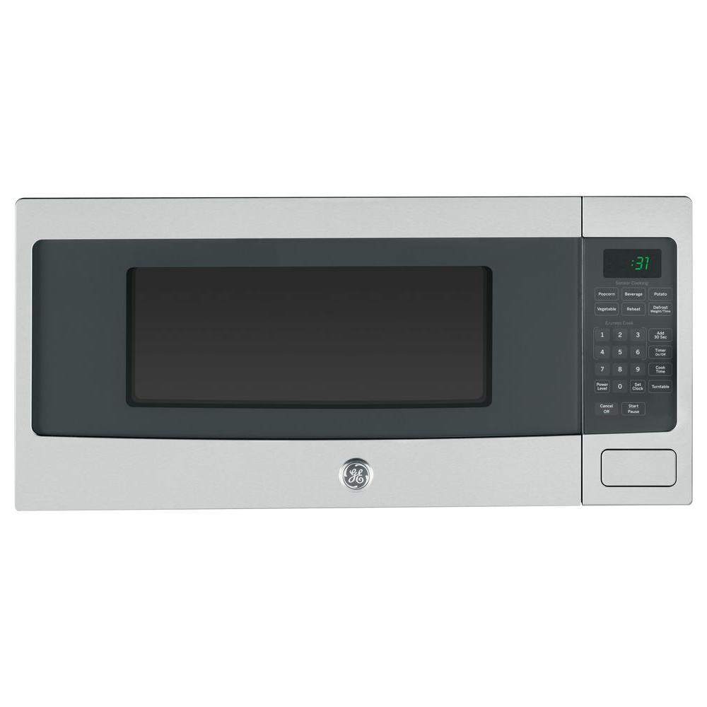 GE Profile 1.1 cu. ft. Countertop Microwave in Stainless Steel with Sensor Cooking