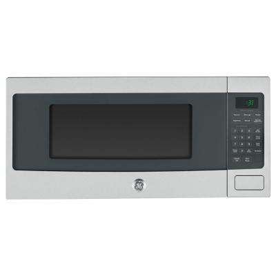 Profile 1.1 cu. ft. Countertop Microwave in Stainless Steel with Sensor Controls