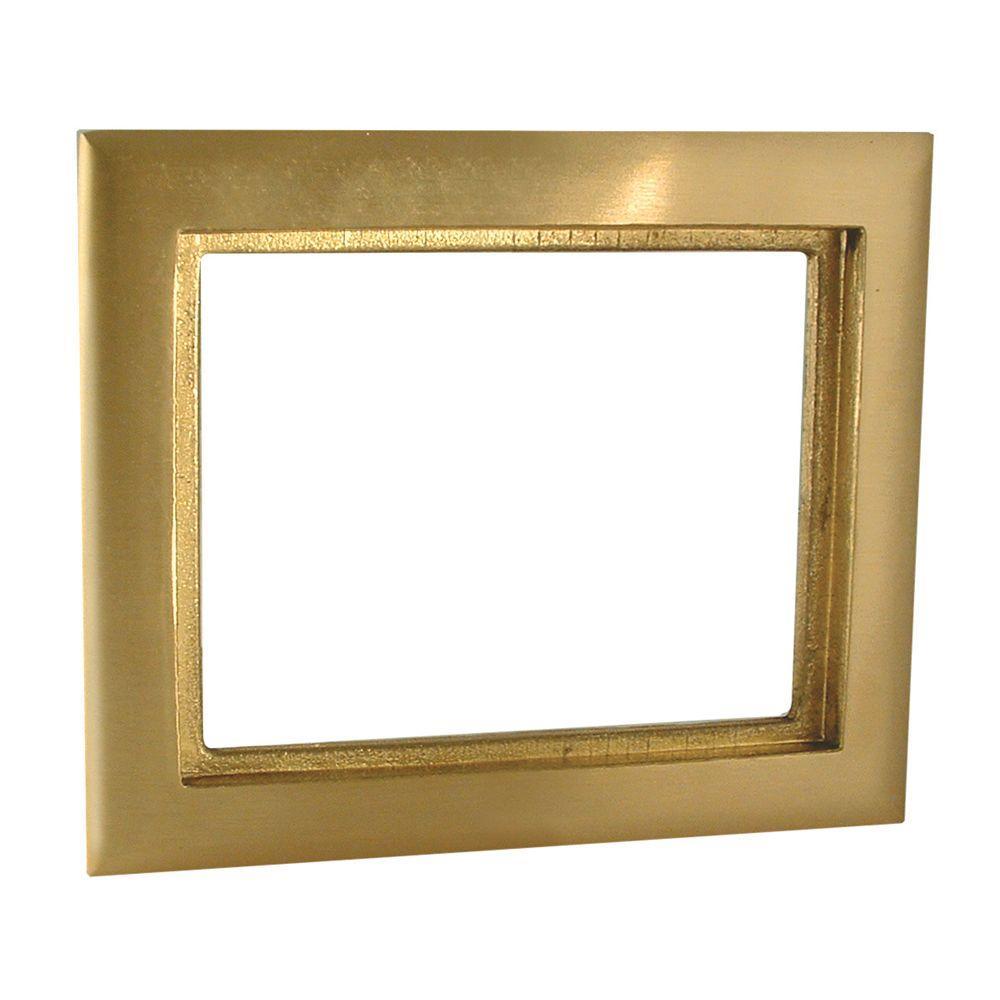 RACO 1-Gang Rectangular Brass Carpet Flange-6292 - The Home Depot