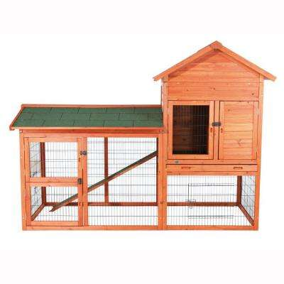 6.5 ft. x 3 ft. x 4.8 ft. Outdoor Run Rabbit Hutch