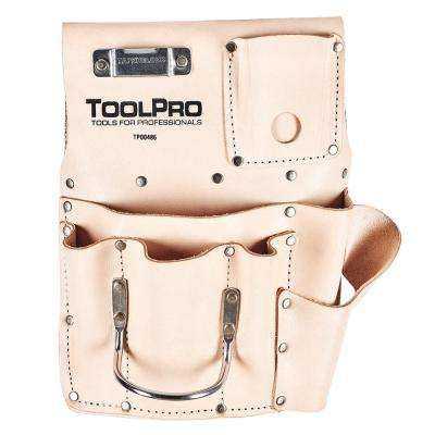 Top Grain Leather Left Handed 8 Pocket Drywall Pouch