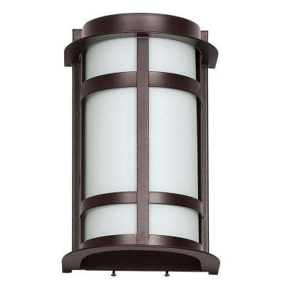1-Light Oil-Bronze Outdoor Lantern