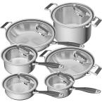 CookCraft by Candace 12-Piece Stainless Steel Cookware Set