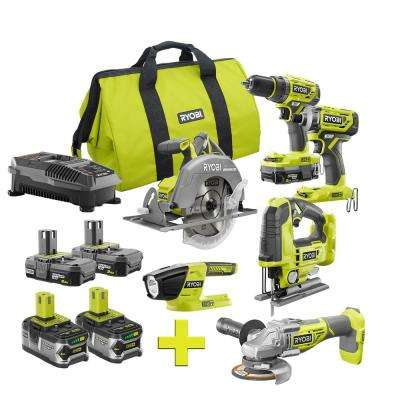 18-Volt ONE+ Lithium-Ion Cordless Brushless 5-Tool Combo Kit w/ Bonus Jigsaw and (2) 4.0 LITHIUM+ Lithium-Ion Batteries