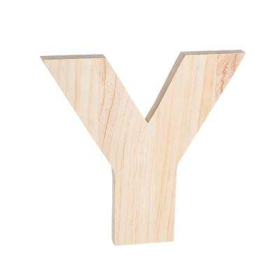 Alpha 8 in. Letter Y in Unfinished Wood