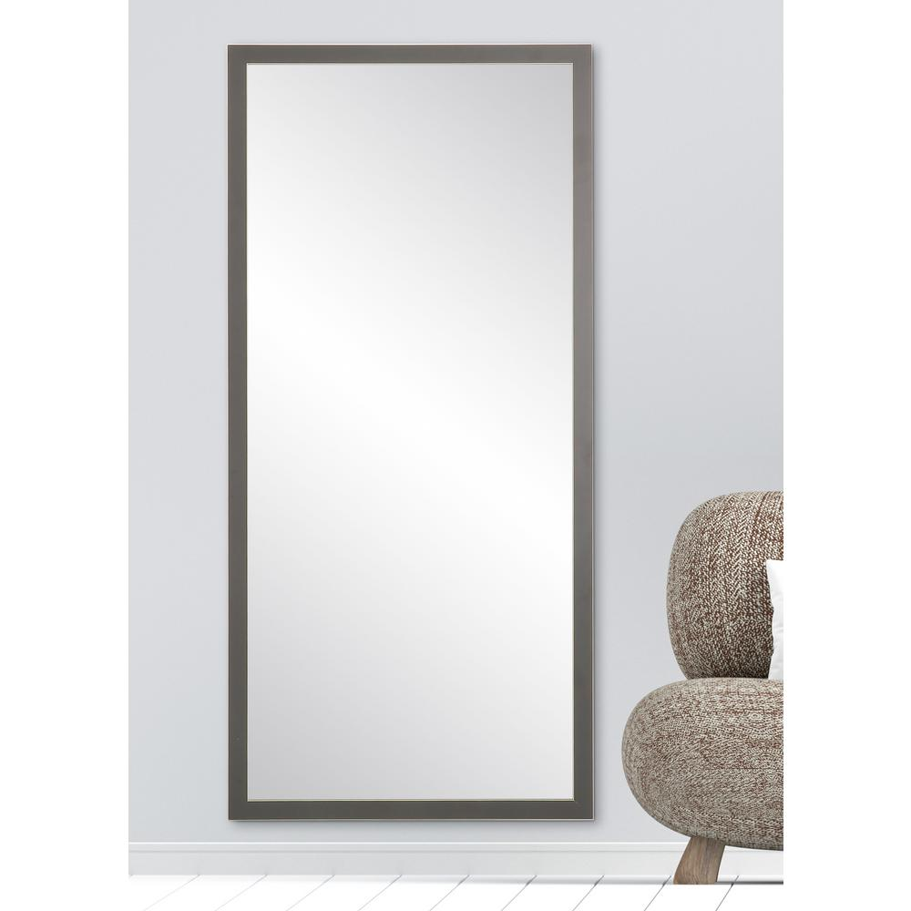 8bfd5b688d31 BrandtWorks 29.5 in. x 63 in. Simply Modern Charcoal Floor Mirror ...