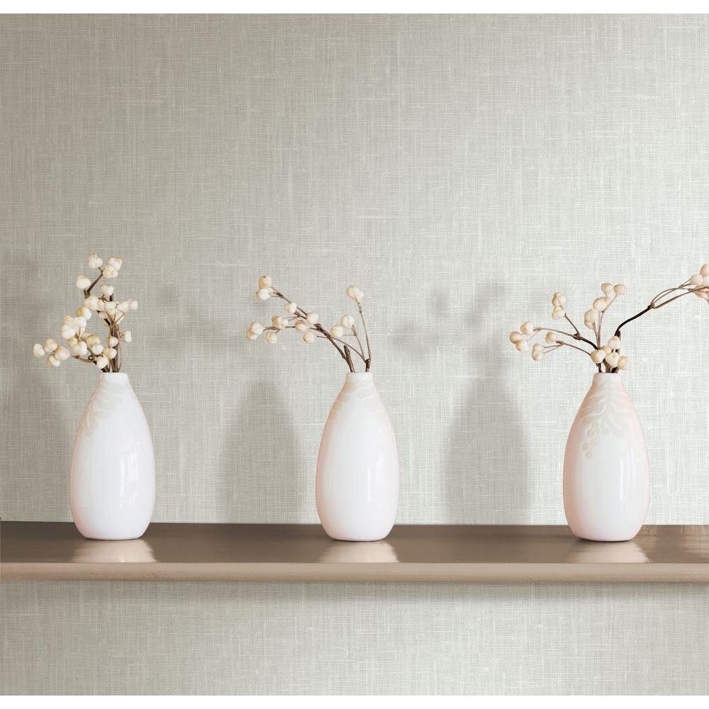 Linge Cream Linen Texture Wallpaper