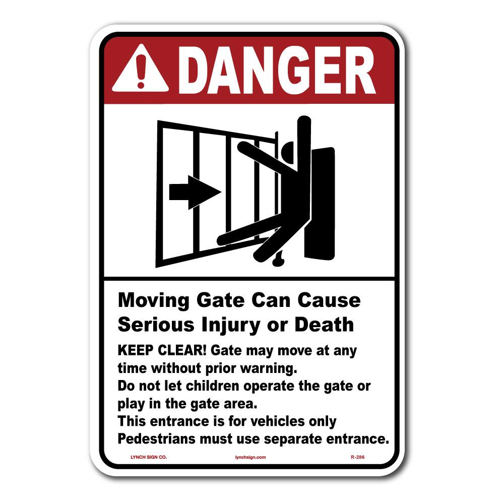 Lynch Sign 10 in  x 14 in  Gate Warning Sign Printed on More Durable  Thicker Longer Lasting Styrene Plastic