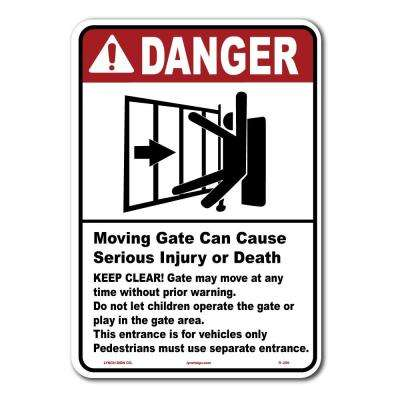 10 in. x 14 in. Gate Warning Sign Printed on More Durable Thicker Longer Lasting Styrene Plastic