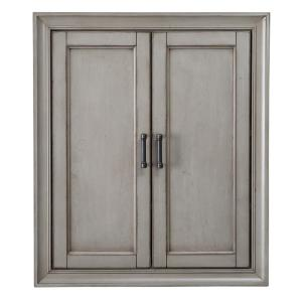 Hazelton 25 in. W Bathroom Storage Wall Cabinet in Antique Grey