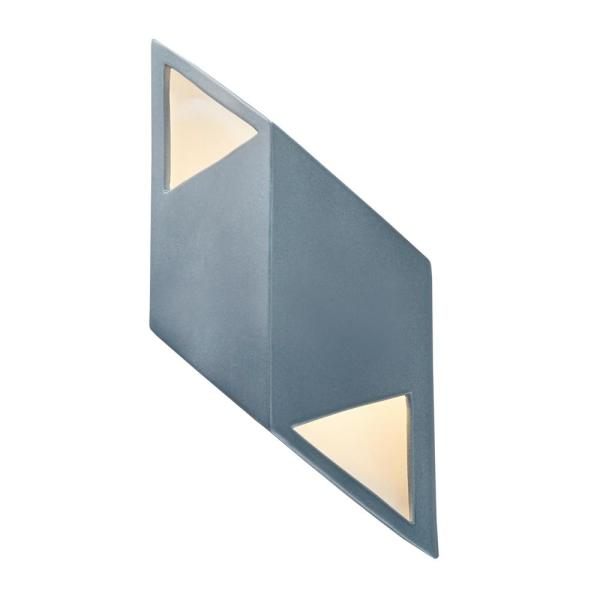Ambiance Small Rhomboid 12-Watt Midnight Sky Integrated LED Sconce with Matte White Internal
