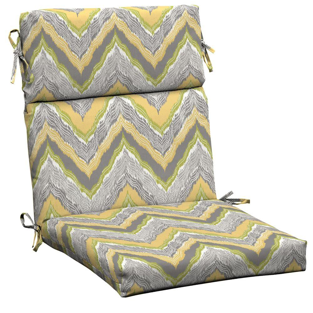 Hampton Bay Seville Outdoor Dining Chair Cushion