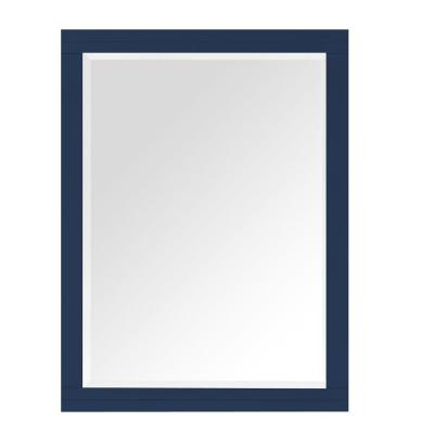 Sturgess 27 in. W x 36 in. H Framed Rectangular Beveled Edge Bathroom Vanity Mirror in Navy Blue