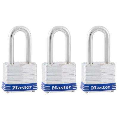 1-9/16 in. Laminated Steel Padlock with 1-1/2 in. Shackle (3-Pack)