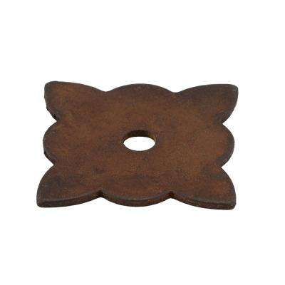 1-3/8 in. Rust Knob Backplate
