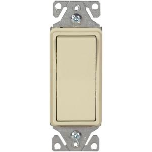ivory eaton switches 7513v box 64_300 eaton 15 amp decorator 3 way light switch, light almond c7513la  at highcare.asia