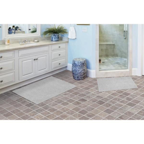 2 Piece Washable Bathroom Rug Set