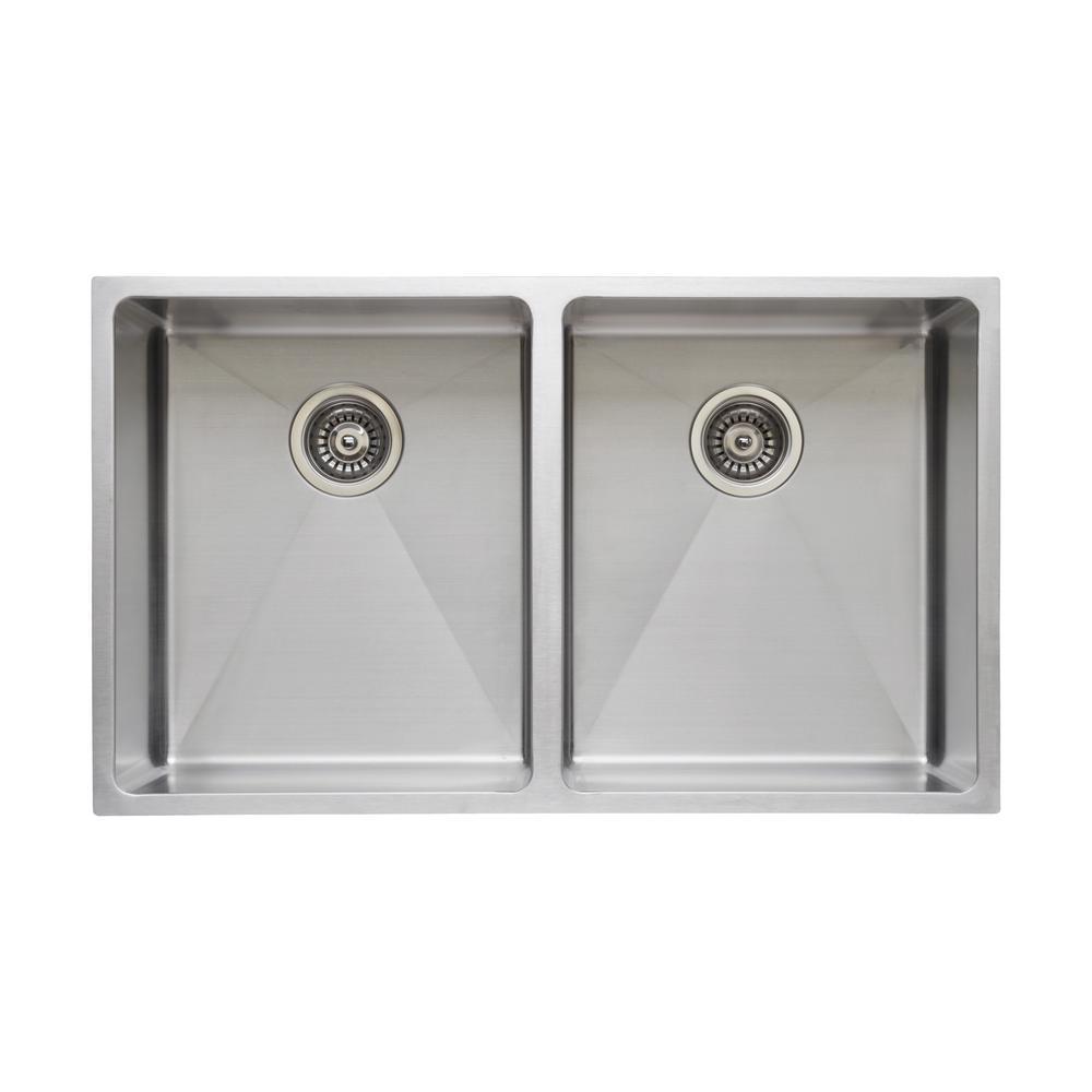 The Chefs Series Undermount  Stainless Steel 31 in. Handmade Single Bowl Kitchen Sink