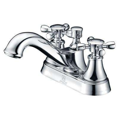 Major Series 4 in. Centerset 2-Handle Mid-Arc Bathroom Faucet in Polished Chrome