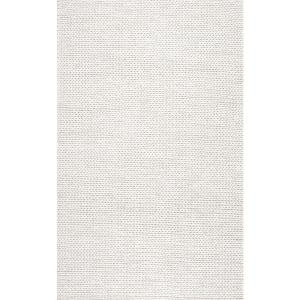 Nuloom Caryatid Chunky Woolen Cable Off White 9 Ft X 12 Ft Area Rug Cb01 9012 The Home Depot