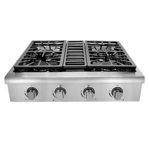 Hallman 30 In Professional Gas Rangetop With 4 Sealed