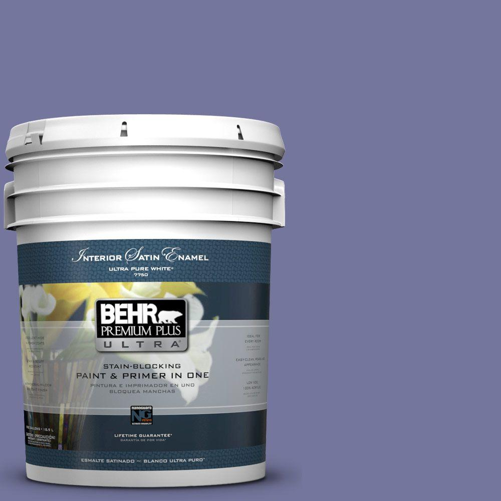 BEHR Premium Plus Ultra 5-gal. #M550-6 Kimono Violet Satin Enamel Interior Paint